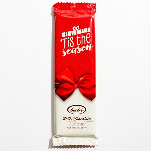 Holiday Milk Chocolate Almond Bar