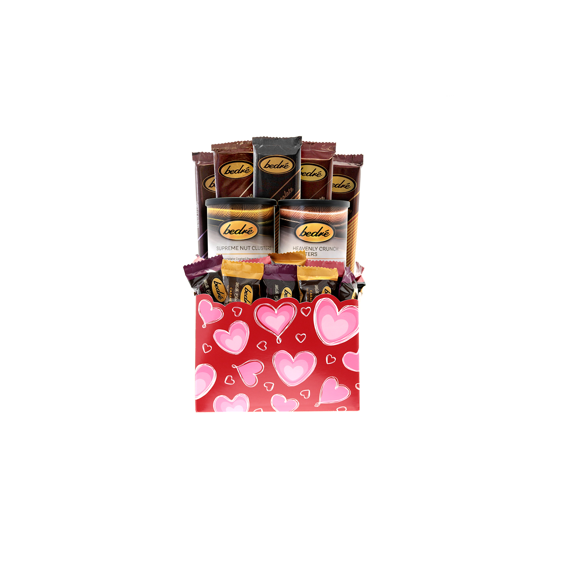 Red and Pink Hearts Gift Box