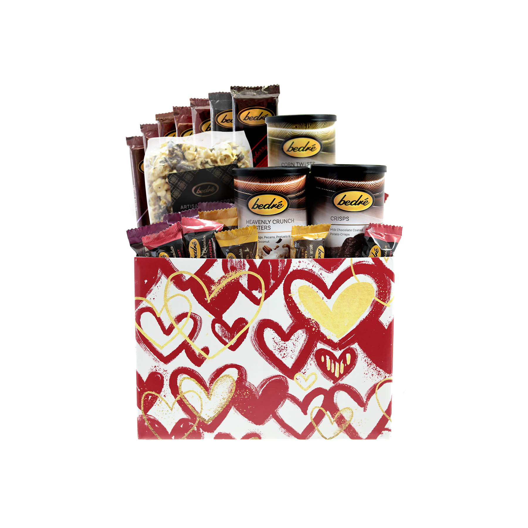 Red Hearts Valentine's Day Gift Box