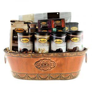 Gift basket of gourmet chocolate